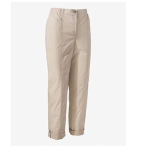 Chico's fitigues roll hem pant size 16